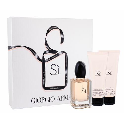 Giorgio Armani Si EDP EDP 50 ml + tělové mléko 75 ml + sprchový gel 75 ml pro ženy