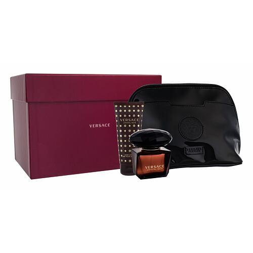 Versace Crystal Noir EDT EDT 90 ml + tělové mléko 100 ml + kosmetická taška pro ženy