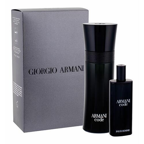 Giorgio Armani Armani Code Pour Homme EDT EDT 75 ml + EDT 15 ml Poškozená krabička pro muže