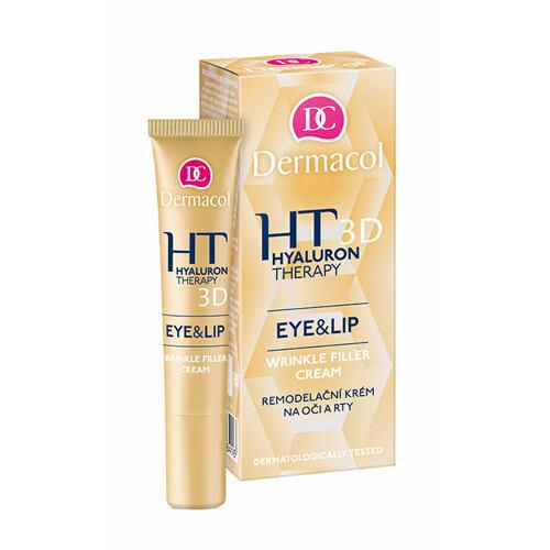 Dermacol 3D Hyaluron Therapy Eye&Lip Wrinkle Filler Cream oční krém 15 ml pro ženy