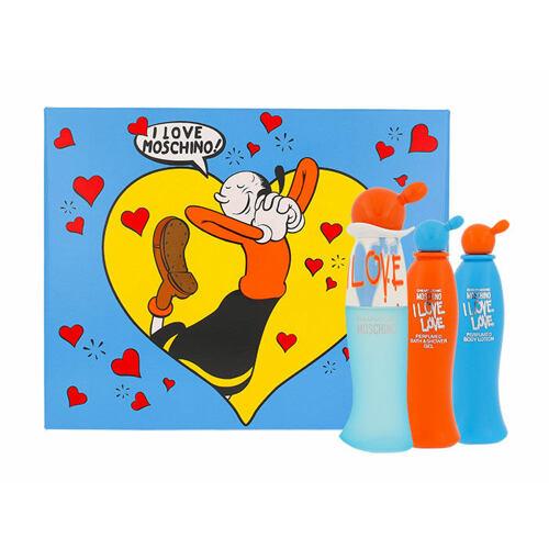 Moschino Cheap And Chic I Love Love EDT EDT 30 ml + tělové mléko 25 ml + sprchový gel 25 ml pro ženy