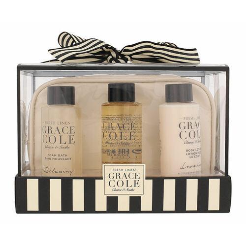 Grace Cole Fresh Linen pěna do koupele dárková kazeta pro ženy