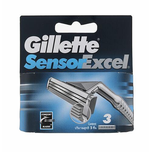 Gillette Sensor Excel náhradní břit 3 ks pro muže