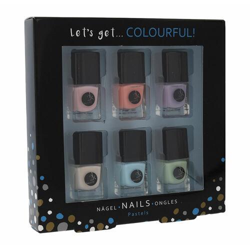 2K Let´s Get Colourful! lak na nehty lak na nehty 6x 5 ml pro ženy