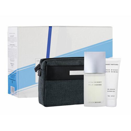 Issey Miyake L´Eau D´Issey Pour Homme EDT EDT 125 ml + sprchový gel 75 ml + kosmetická taška Poškozená krabička pro muže