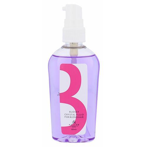 Kallos Blossy Crystal Fluid olej a sérum na vlasy 80 ml Poškozená krabička pro ženy
