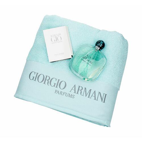 Giorgio Armani Acqua di Gioia EDP EDP 100 ml + ručník + EDT Acqua di Gio Men 1,5 ml pro ženy