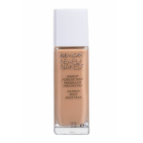 Make-up Revlon Nearly Naked SPF20 30 ml 160 Fresh Beige poškozený flakon