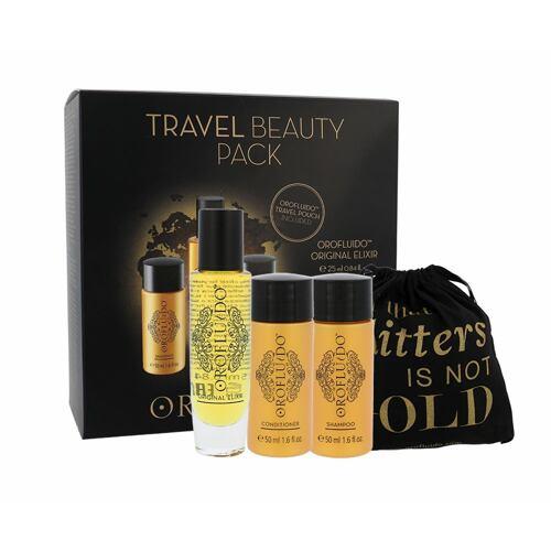 Orofluido Beauty Elixir olej a sérum na vlasy tekuté zlato Elixir 25 ml + šampon 50 ml + kondicionér 50 ml + sáček pro ženy