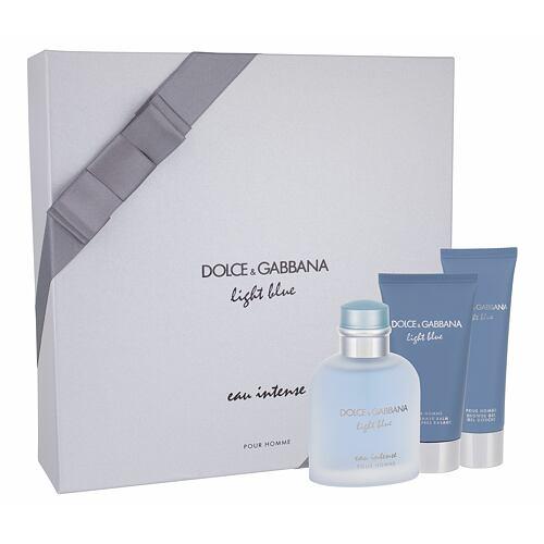 Dolce&Gabbana Light Blue Eau Intense Pour Homme EDP EDP 100 ml + sprchový gel 50 ml + balzám po holení 75 ml pro muže
