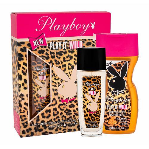 Playboy Play It Wild For Her deodorant deodorant 75 ml + sprchový gel 250 ml pro ženy