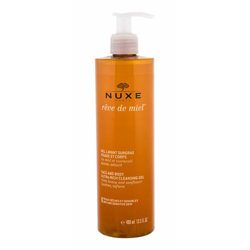Sprchový gel NUXE Rêve de Miel Face And Body Ultra-Rich Cleansing Gel 400 ml
