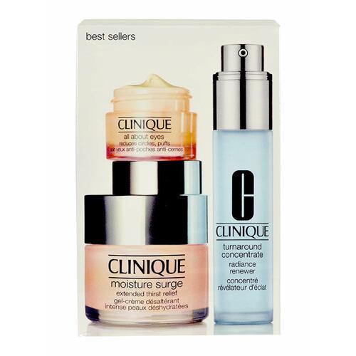 Clinique Moisture Surge denní pleťový krém denní krém 50 ml + pleťová péče Turnaround Concentrate 30 ml + oční krém All About Eyes 15 ml pro ženy