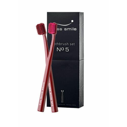Swiss Smile No. 5 zubní kartáček měkký zubní kartáček Lotus Red 1 ks + extra měkký zubní kartáček Lotus Red 1 ks Unisex