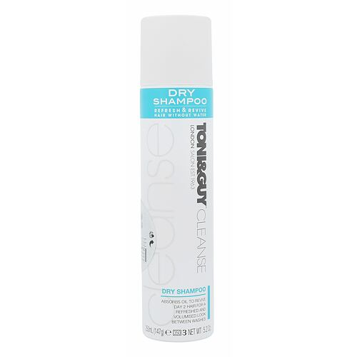 Suchý šampon TONI&GUY Cleanse 250 ml