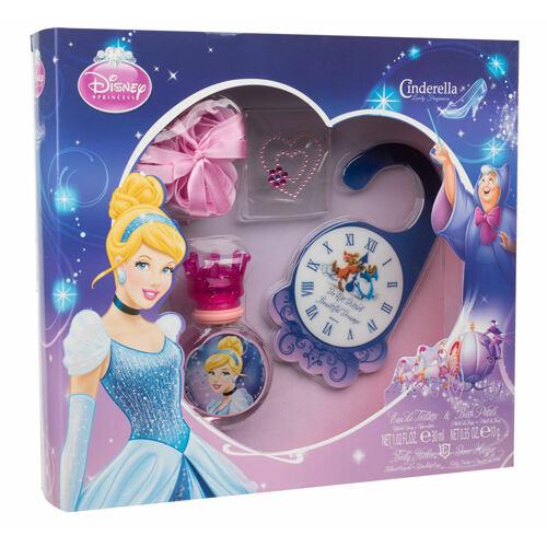 Disney Princess Cinderella EDT EDT 30 ml + okvětní lístky do koupele + pokojová visačka + nálepka na tělo Unisex