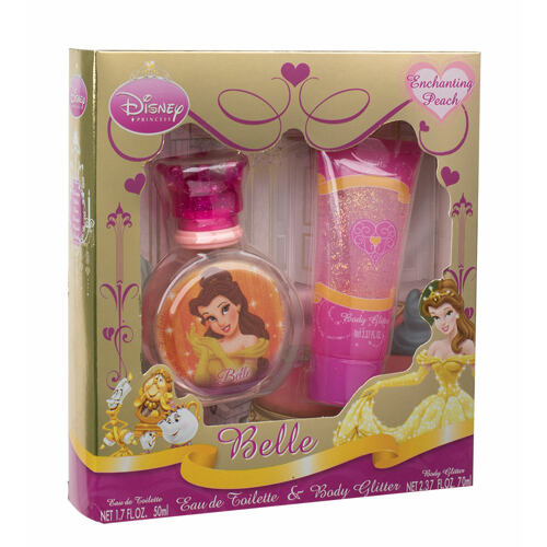 Disney Princess Belle EDT EDT 50 ml + tělový gel se třpytky 70 ml Unisex