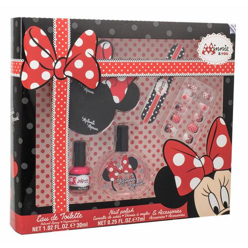 Disney Minnie Mouse EDT EDT 30 ml + lak na nehty 7 ml + pilník na nehty + umělé nehty + oddělovač prstů Unisex