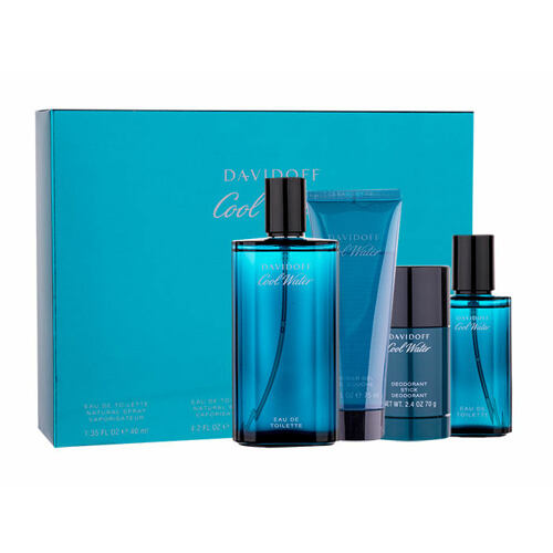 Davidoff Cool Water EDT EDT 125 ml + deostick 75 ml + sprchový gel 75 ml + EDT 40 ml pro muže