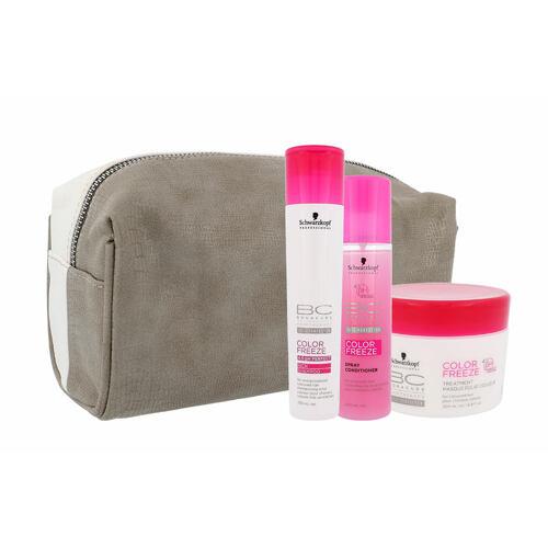 Schwarzkopf BC Bonacure Color Freeze šampon šampon 250 ml + kondicionér 200 ml + maska na vlasy 200 ml + kosmetická taška pro ženy