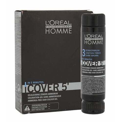 L´Oréal Professionnel Homme Cover 5´ barva na vlasy 3x50 ml pro muže