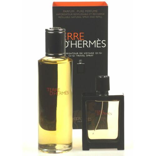 Hermes Terre D´Hermes parfém parfém náplň 125 ml + parfém naplnitelný flakón 30 ml Poškozená krabička Náplň pro muže