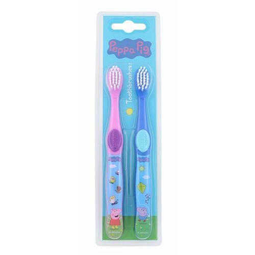 Peppa Pig Peppa zubní kartáček zubní kartáček 2 ks Unisex