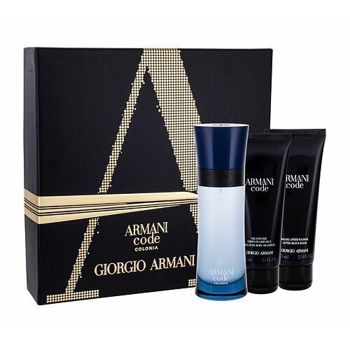Giorgio Armani Armani Code Colonia EDT EDT 75 ml + sprchový gel 75 ml + balzám po holení 75 ml pro muže