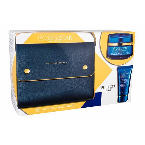 Collistar Perfecta Plus Face And Neck Perfection denní pleťový krém pleťová péče pro obličej a krk 50 ml + pleťová maska 20 ml + kabelka pro ženy