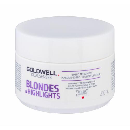 Goldwell Dualsenses Blondes Highlights 60 Sec Treatment maska na vlasy 200 ml pro ženy