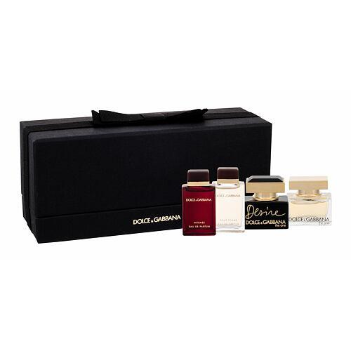 Dolce&Gabbana Mini Set EDP edp The One 5 ml + edp Pour Femme 4,5 ml + edp Pour Femme Intense 4,5 ml + edp Desire 5 ml pro ženy