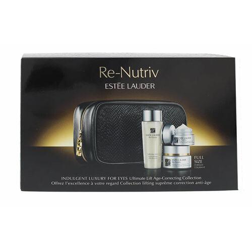 Estée Lauder Re-Nutriv Ultimate Lift Age-Correcting oční krém oční krém 15 ml + čisticí mléko 50 ml + denní krém proti vráskám 7 ml + taška pro ženy