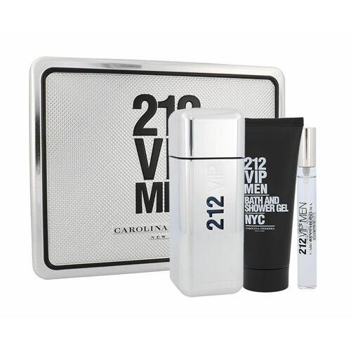 Carolina Herrera 212 VIP Men EDT EDT 100 ml + sprchový gel 100 ml + EDT 10 ml pro muže