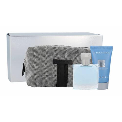 Azzaro Chrome EDT EDT 30 ml + sprchový gel 50 ml + kosmetická taška pro muže