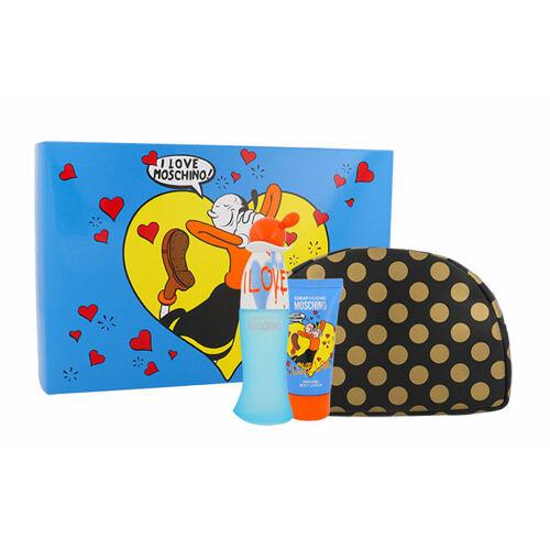 Moschino Cheap And Chic I Love Love EDT EDT 50 ml + tělové mléko 50 ml + kosmetická taška pro ženy