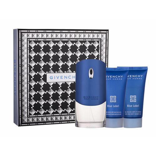 Givenchy Pour Homme Blue Label EDT EDT 100 ml + sprchový gel 50 ml + balzám po holení 50 ml pro muže