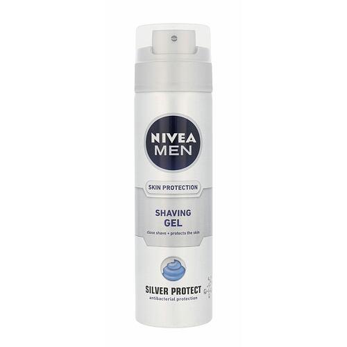 Nivea Men Silver Protect gel na holení 200 ml pro muže
