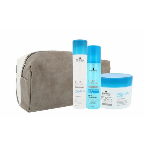 Schwarzkopf BC Bonacure Moisture Kick šampon šampon 250 ml + kondicionér 200 ml + maska na vlasy 200 ml + kosmetická taška pro ženy