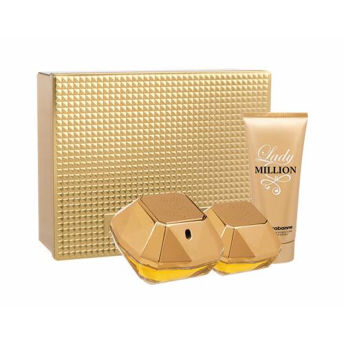 Paco Rabanne Lady Million EDP EDP 50 ml + tělové mléko 100 ml + EDP 5 ml pro ženy