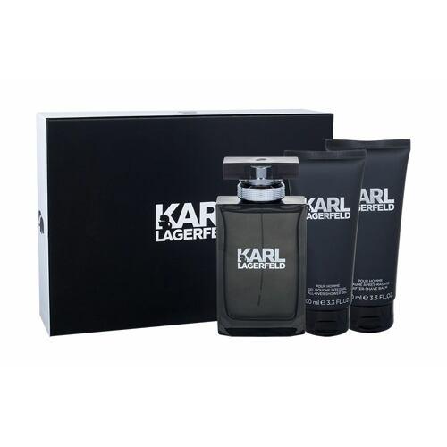 Karl Lagerfeld Karl Lagerfeld For Him EDT EDT 100 ml + balzám po holení 100 ml + sprchový gel 100 ml pro muže