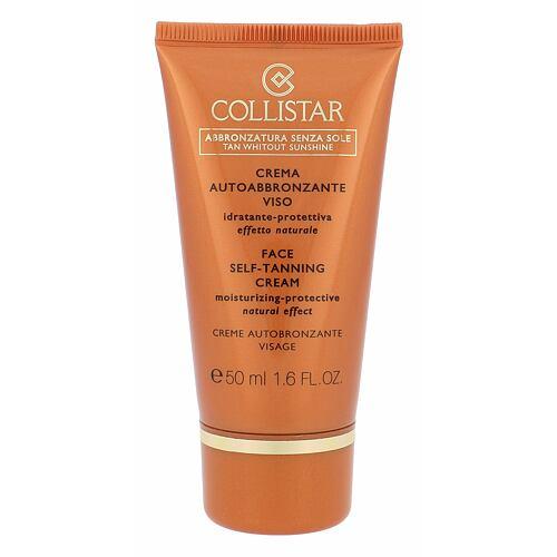 Collistar Tan Without Sunshine Face Self-Tanning Cream samoopalovací přípravek 50 ml pro ženy