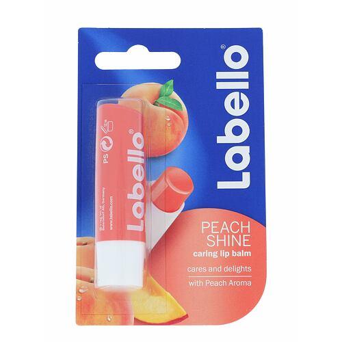 Labello Peach Shine balzám na rty 5,5 ml pro ženy