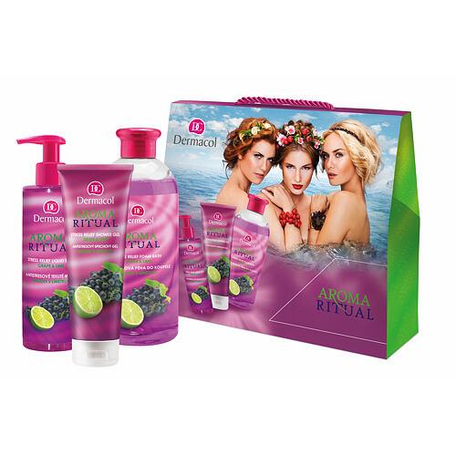 Dermacol Aroma Ritual Grape & Lime pěna do koupele pěna do koupele 500 ml + sprchový gel 250 ml + tekuté mýdlo 250 ml pro ženy