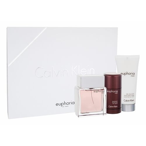 Calvin Klein Euphoria Men EDT EDT 100 ml + balzám po holení 100 ml + deostick 75 ml pro muže