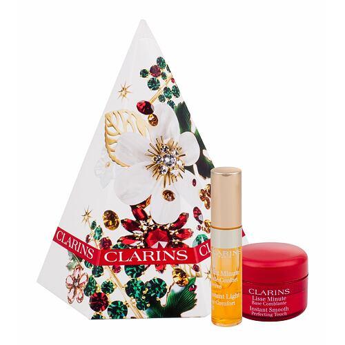 Clarins Instant Smooth podklad pod makeup podkladová báze 4 ml + péče o rty Instant Light Lip Comfort Oil 2,8 ml 01 Honey pro ženy
