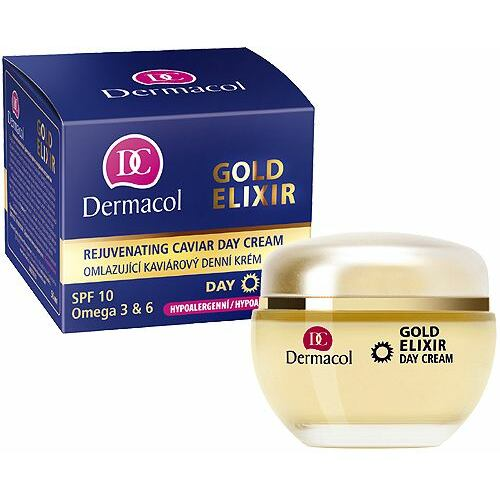 Dermacol Gold Elixir denní pleťový krém denní pleťový krém 50 ml + krém na ruce 75 ml pro ženy