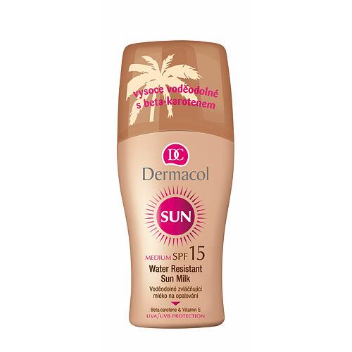 Dermacol Sun Milk Spray SPF15 opalovací přípravek na tělo 200 ml pro ženy