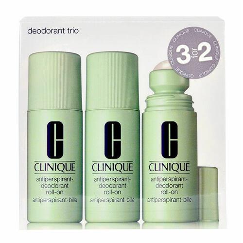 Clinique Deodorant Trio antiperspirant Antiperspirant-Deodorant Roll-On 3x 75 ml pro ženy
