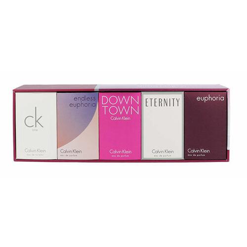 Calvin Klein Mini Set 1 EDT edp Eternity 5 ml + edp Euphoria 4 ml+ edt One 10 ml+ edp Endless Euphoria 5 ml+ edp Downtown 5 ml pro ženy