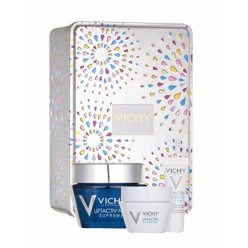 Vichy Liftactiv Supreme noční pleťový krém noční pleťová péče 50 ml + denní pleťová péče 15 ml + pleťové sérum 3 ml pro ženy